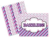 Dazzling Purple Dots & Stripes Bulletin Board Set