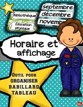French Classroom decor set / Décor de la classe / Horaire