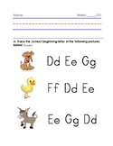Dd and Ee Worksheet