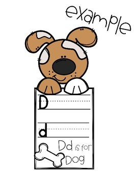 Dd is for Dog {literacy, math, and a craftivity}