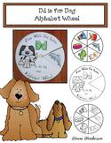 Dd is for Dog Alphabet Wheel