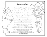 De Cem Ber, December Song with spelling of the month.