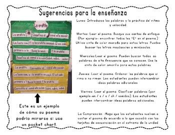 De Colores- Spanish poem/song center