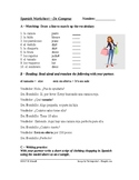 La Ropa / De compras - Spanish Worksheet on Clothing Shopping (Partner Activity)