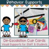De-Escalation Prompts & Procedures | Staff & Student Visual Supports