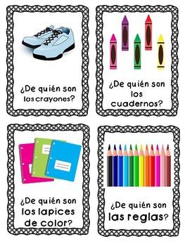 ¿De Quién Es? {2 Whole Class Games to Practice Possessives in Spanish}