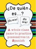 ¿De Quién Es? {2 Whole Class Games to Practice Possessives