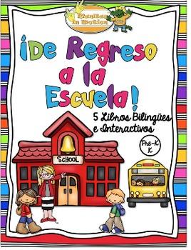De Regreso a la Escuela - 5 Libros Bilingües e Interactivos