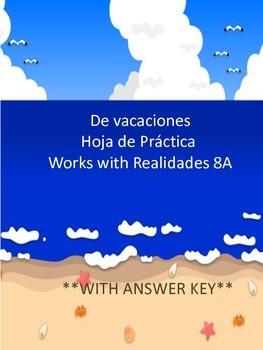 De Vacaciones - A Vocab Practice Worksheet