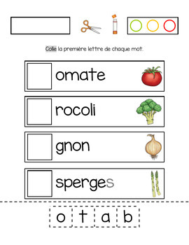 De bons légumes!  (Math and literacy ressource in French about vegetables)