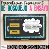 Proceso escritura Ensayo PowerPoint | Outline to Essay Spanish