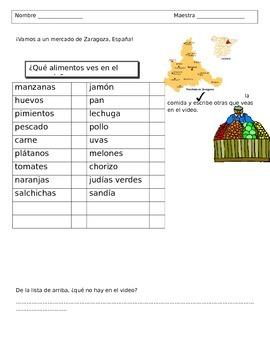 De compras en el mercado - Spanish foods