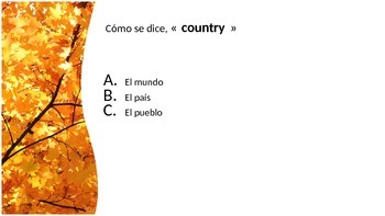 De donde eres/Countries Review Powerpoint