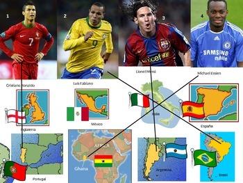 ¿De dónde es? ¡Con los mejores futbolistas!