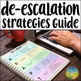 De-escalation Strategies Guide