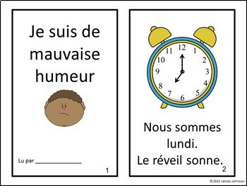De mauvaise humeur French Back to School Reader & Sorting Page {en français}