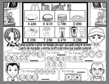 De tiendas con monedas/ Shopping with coins