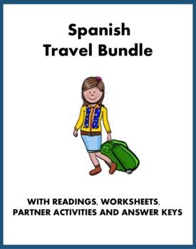 De viaje Lecturas - Spanish Travel Bundle (hotel, aeropuerto) - 4 Readings!