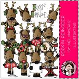 Rockin Reindeer clip art- by Melonheadz