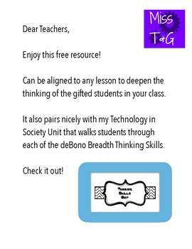 DeBono Thinking Skills Posters (Breadth)