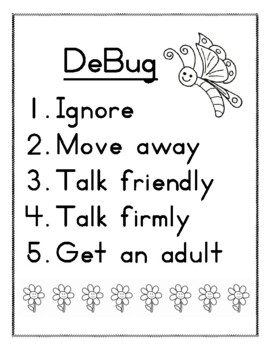 DeBug- Student Conflict Resolution/Social Interactions