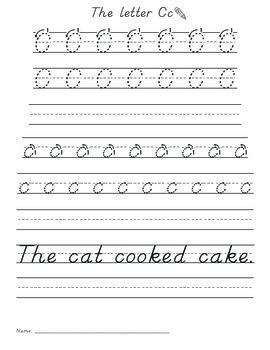 De'Nelian Font Letter Practice