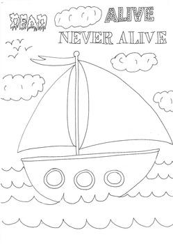 Dead, Alive, Never Lived: Ocean Theme: Boat Worksheet to C