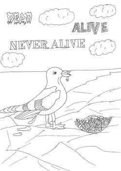 Dead, Alive, Never Lived: Ocean Theme: Seagull Worksheet t