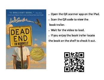 QR Code Book trailer link for Dead End in Norvelt