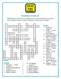 Dead End in Norvelt: Synonym/Antonym Vocabulary Crossword—Fun!