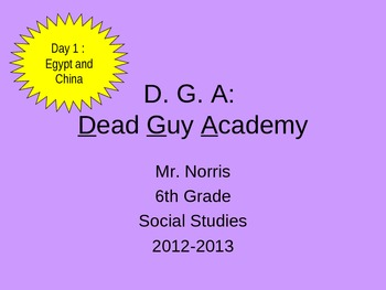 Dead Guy Academy - Day 1
