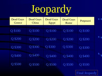 Dead Guy Academy Review Jeopardy