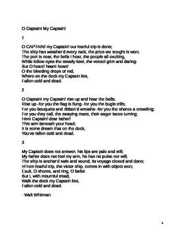 Dead Poets Society Poetry Unit
