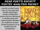 Dead Poet's Society Poetry Analysis