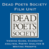 Dead Poets Society Film Unit with poetry analysis, writing prompts and more!