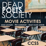 Dead Poets Society Movie Activities - CCSS Fun for Middle & High School!