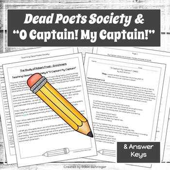 "Dead Poets Society & ""O Captain! My Captain!"""