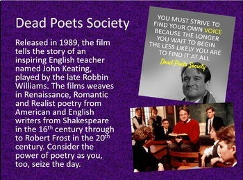 Dead Poets Society Resources