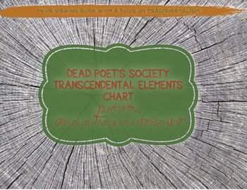 Dead Poet's Society Transcendental Chart