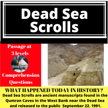 Dead Sea Scrolls Differentiated Reading Passage, September 22