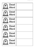 (with examples!!) Dead + Strong words worksheets