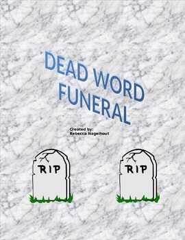 Dead Word Funeral Lesson