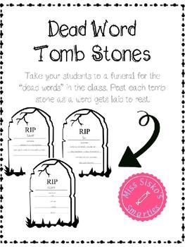 Dead Word Tomb Stones *Editable*
