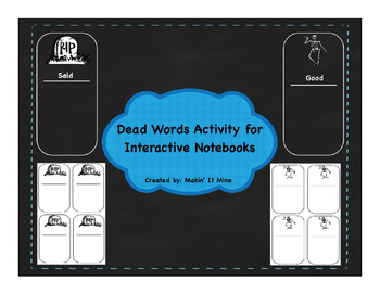Dead Words Activity for Interactive Notebooks