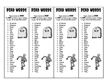Dead Words Bookmark