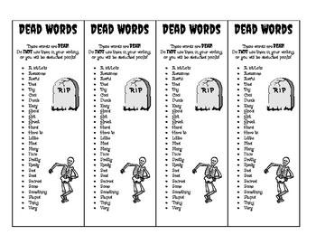 Dead Words Bookmark