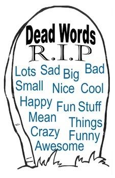 Dead Words Classroom Poster