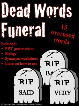 Dead Words Funeral Activity