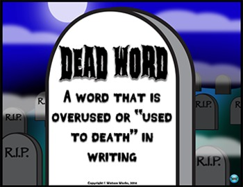Dead Words: Synonyms Task Cards