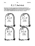Dead Words Worksheet